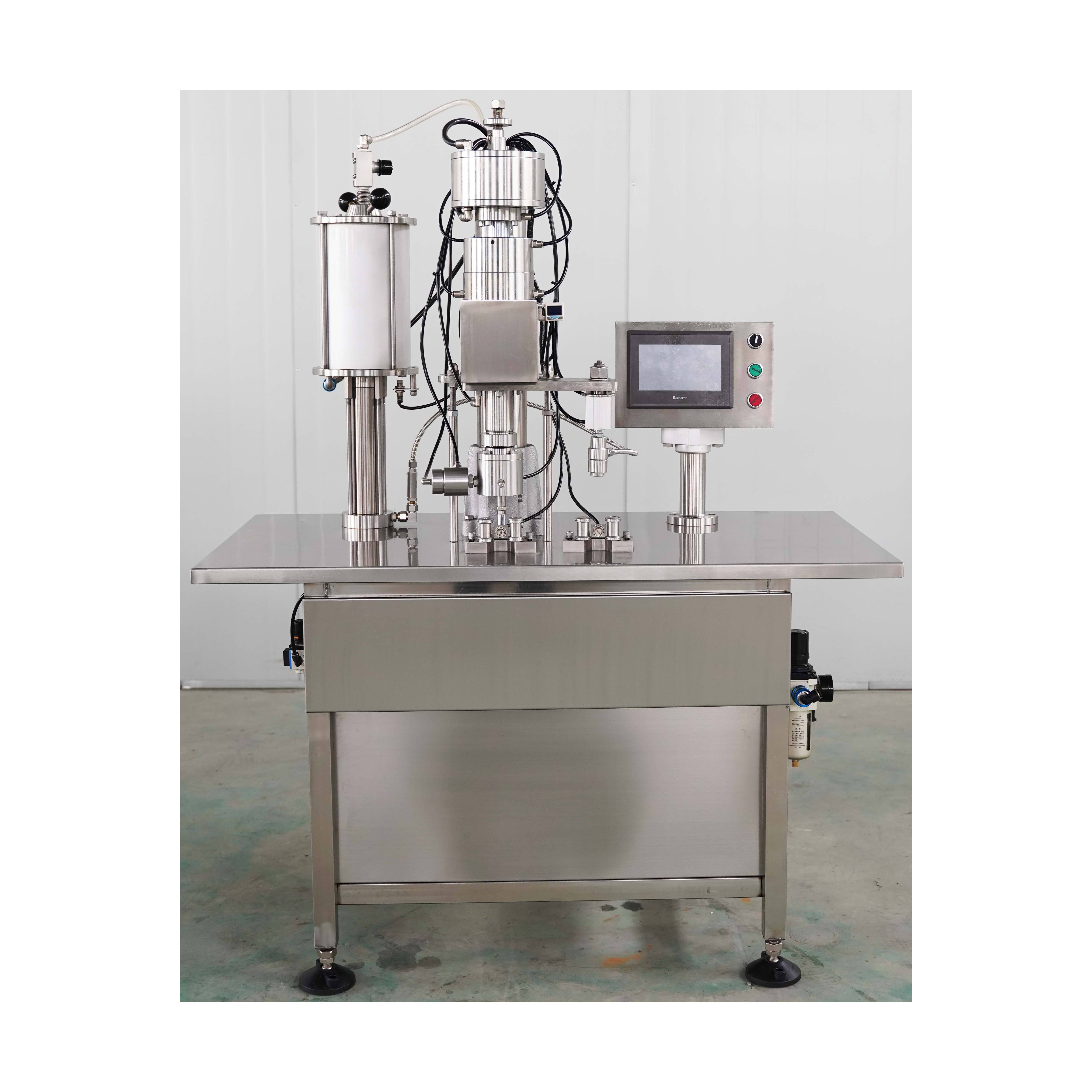Bag on valve aerosol filling machine for canned color hair spray