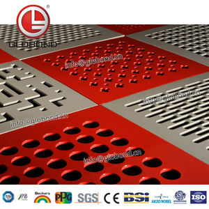 GLOBOND Aluminum Perforated Plate/Perforated Metal Hook/Alibaba China Perforated Aluminum Composite Panels
