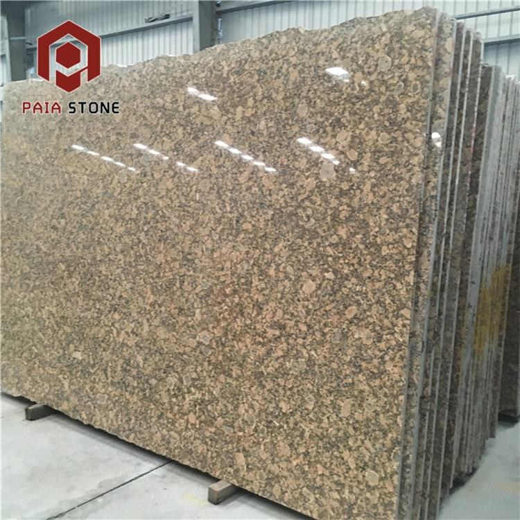 China Giallo Fiorito Yellow Golden Granite Gold Big Slab with Cheap Price