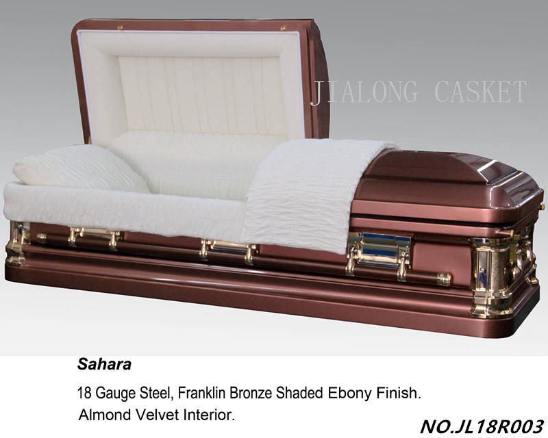 sahara steel casket-chinese manufacture of American style steel and wooden casket for sale