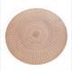 Wholesale Hollow Cut Luxury Washable PVC Fish Bone Party Round placemats for round Vinyl placemat