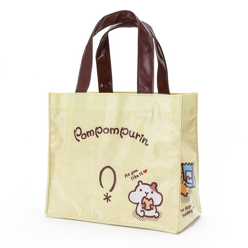 Impermeabile CMYK stampa PVC rivestito in tela di cotone shopping bag tote
