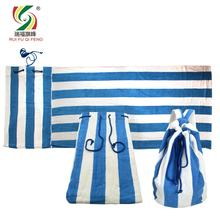 Yarn Dyed Stripe Cotton Beach Towel Bag