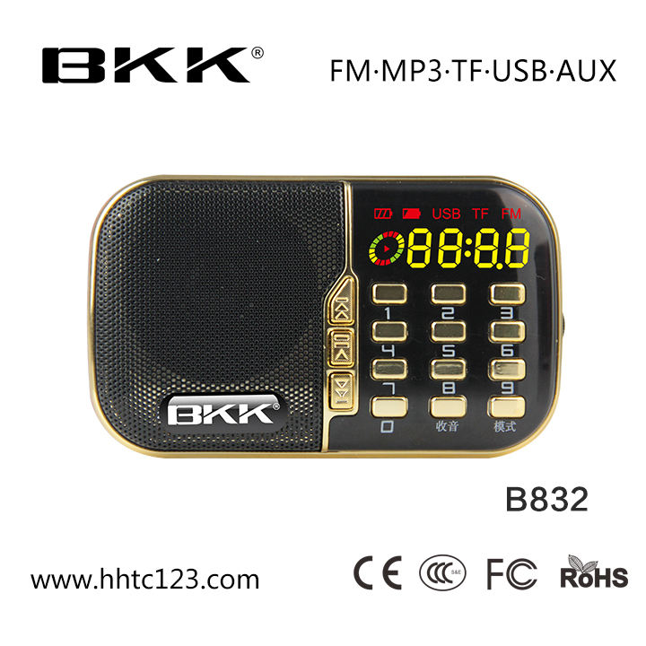 Tasca BKK Radio Lettore Mp3 Digitale On-Line (B832)