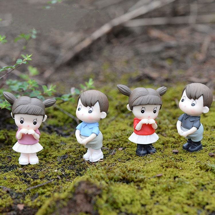 Fairy Garden Miniatures Cartoon Cute Little Baby Doll Mini DIY Mini Garden