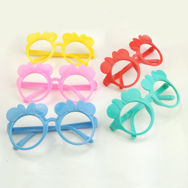 Cute Disny Colorful Minnie Glasses Frame Kids Birthday Festival Costume Party Supplies Take home Favors Kid's Toys uv400