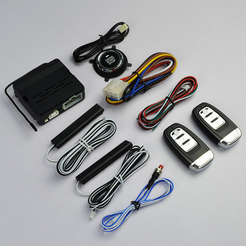 Car Alarms remote start keyless entry system car start stop engine by alarm remote hand remote central lock
