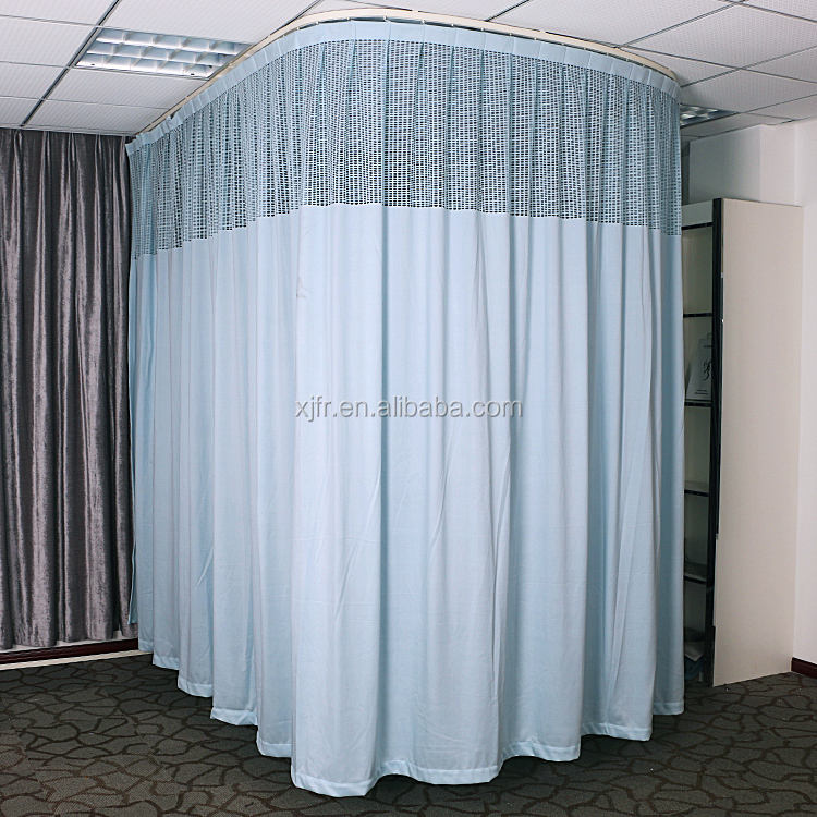 fire proof hospital partition curtain and washable anti bacterial medical durable privacy curtain