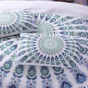Wholesale Christmas 3D Print Mandala Bohemian Microfiber duvet Cover Polyester With Matched Curtain