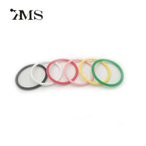Wholesale Silicone hair elastic bands Small colored silicone rubber band hair ties for thin hair