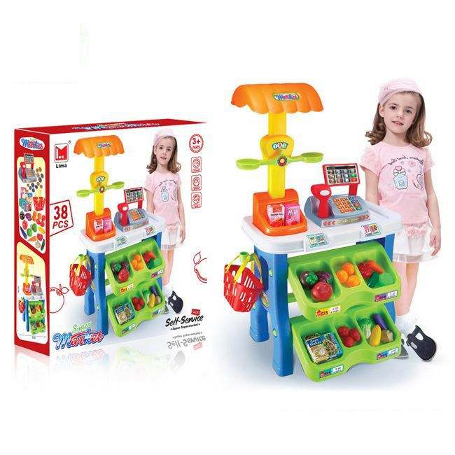 Good Quality Kid Toy Educational Play House Supermarket Toys HC355329