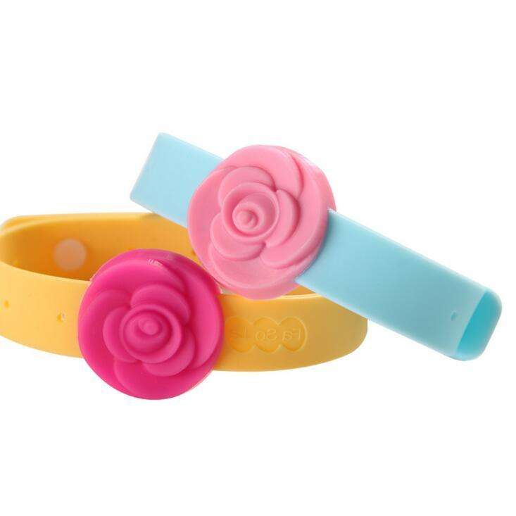 Flower anti mosquito silicone bracelet silicone wrist bands silicone rubber with citronella oil