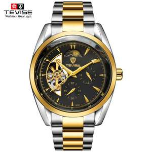 Tevise 795A original men's wrist watch 3 atm waterproof stainless steel watch strap wholesale automatic watch