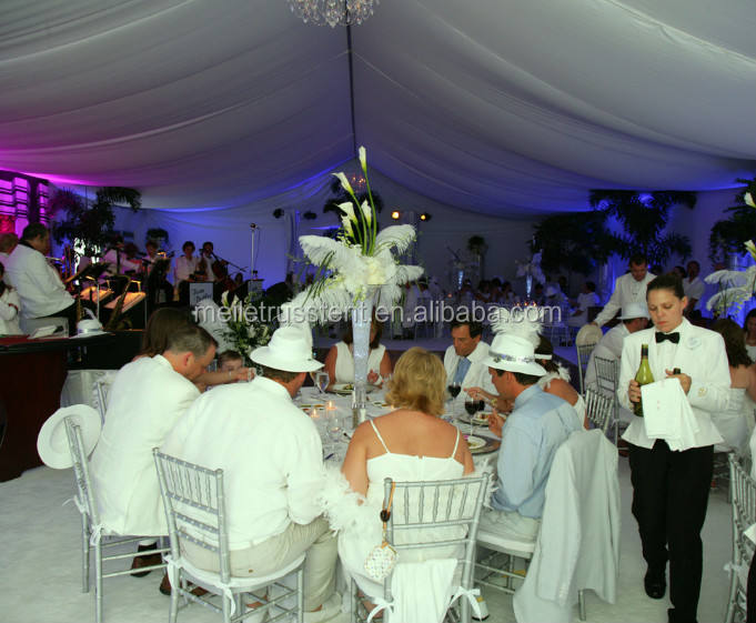 White Lining Wedding Tent with Ceiling Decoration