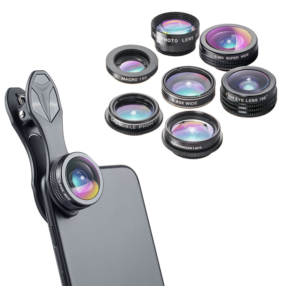 APEXEL 7 in 1 phone accessories mobile camera lenses