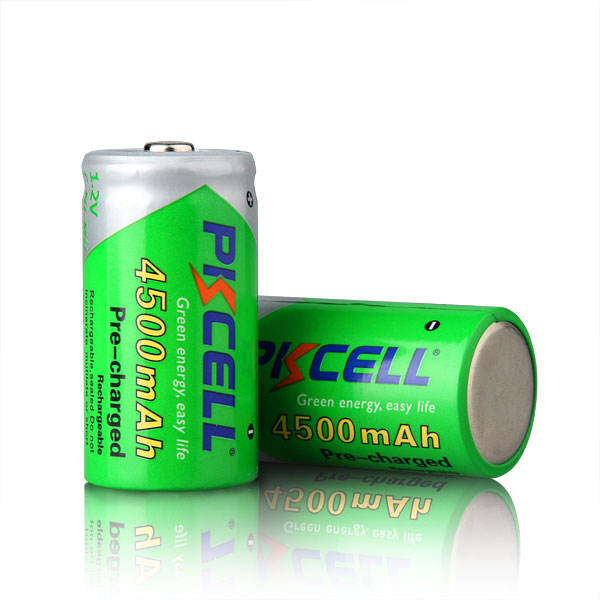 1200 cycle life PKCELL 4500mah 1.2V C Size Ni-MH Rechargeable Battery