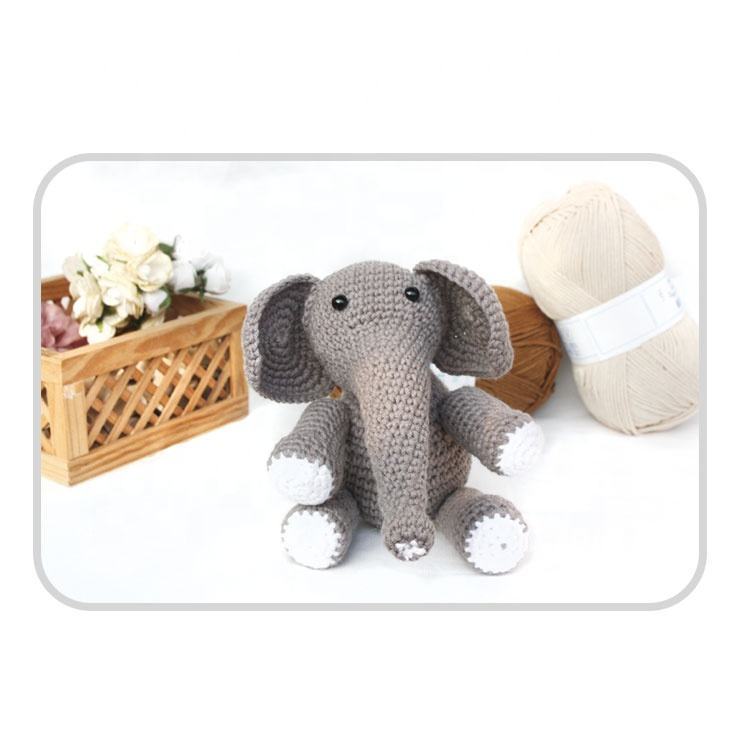 Cute Animal Elephant DIY Knitting kit DIY Crochet Kit