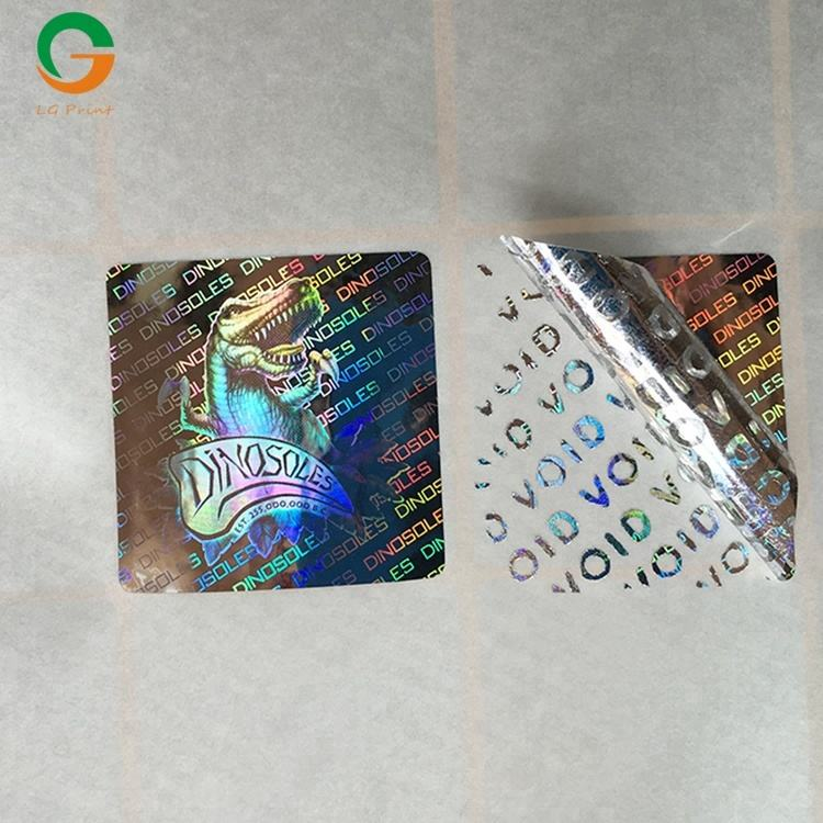 Garantie certificaten laser label leegte custom logo stickers hologram sticker