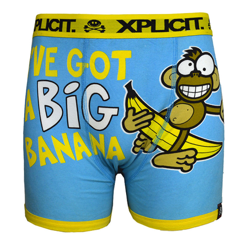 Fashional Funny Cartoon Printed Cotton Underwear /Custom Men Boxer Briefs
