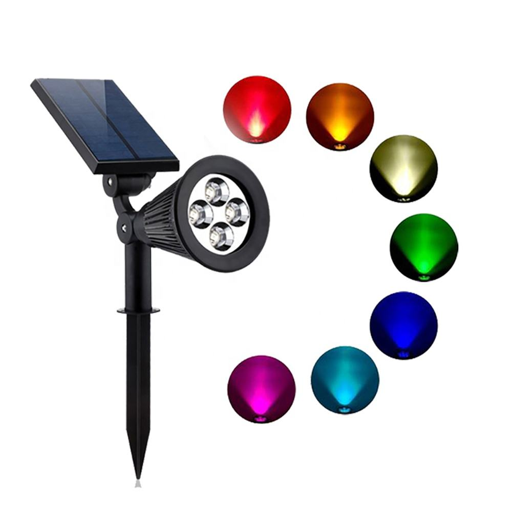 Changing color Fixed Color Led Outdoor Landscape Courtyard Waterproof Garden Solar Lawn Light