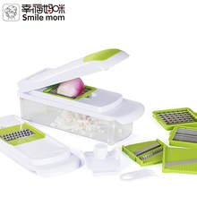 Smile mom Multi Kitchen Onion Fruit Dicer Mandoline Grater Pro Food Chopper Julienne Vegetable Slicer Dicer Cutter