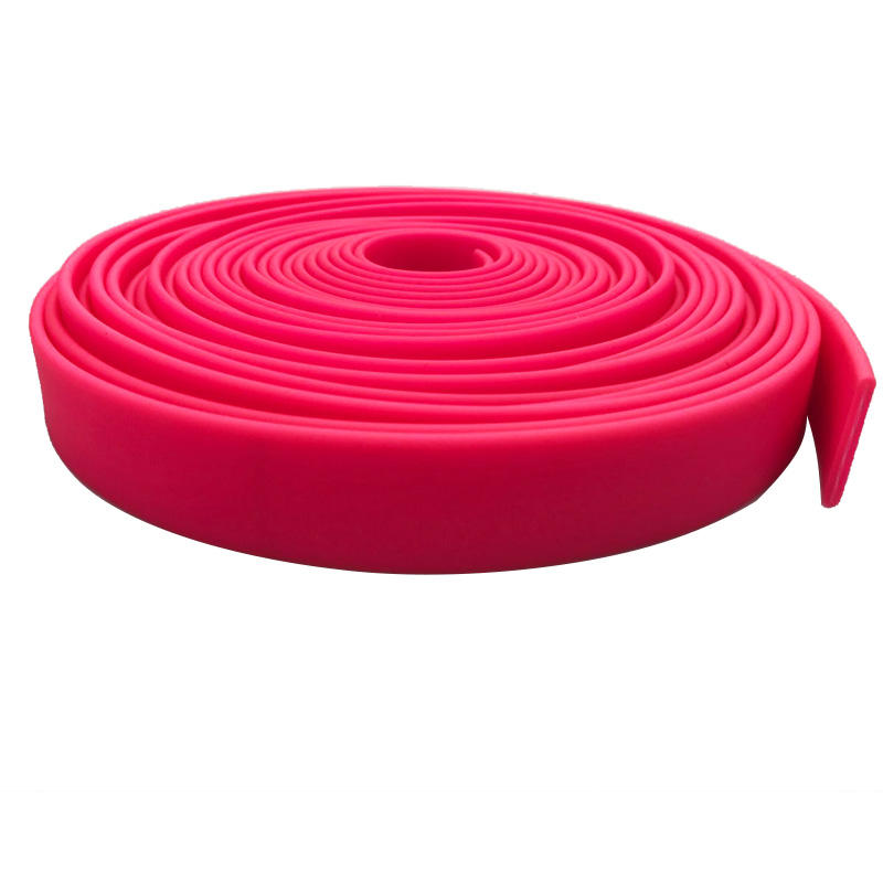 Skidproof Rose Pink Rubber PVC Coated Webbing For Making Dog led Collars