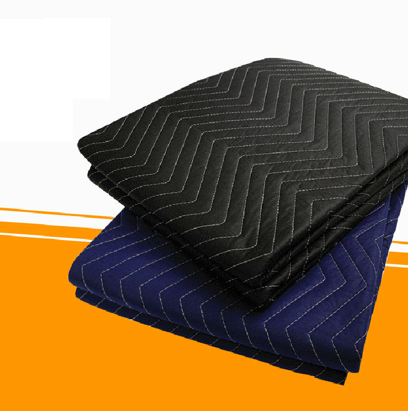 Furniture Protection Moving Woven Blanket black Folding Picnic moving blanket made in korea