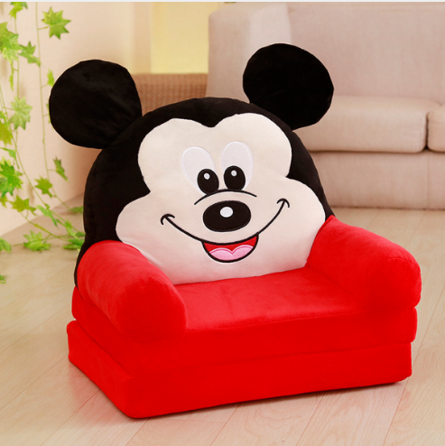 New Cute Factory Delivery Removable Baby Sofa Children Seat Plush Toy Sleep Mat Cartoon folding sofa
