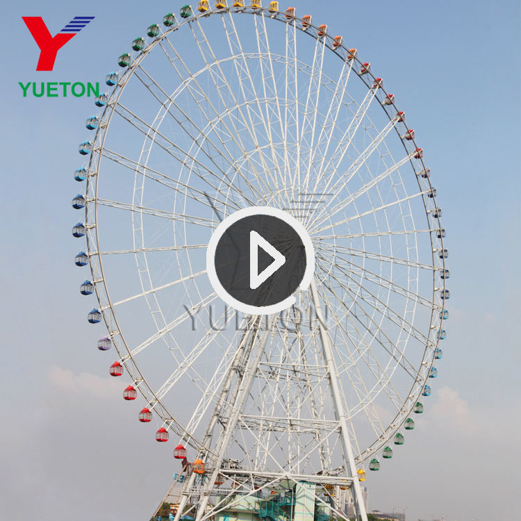 50m 55m 65m 88m 120m China Supplier Sightseeing Amusement Giant Ride Attraction Big Ferris Wheel For Sale