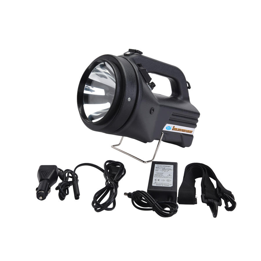 portable rechargeable police searchlight outdoor heavy duty handheld searchlight camping emergency maintenance light 5JG-868D