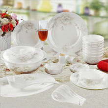 Haonai high quality bone china dinner set with customized printing