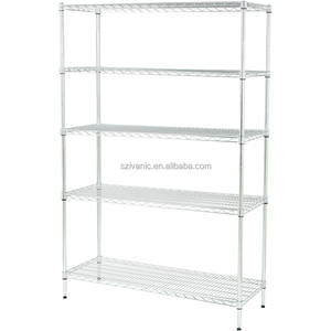 NSF Einstellbare 5 Tiers Metall Mesh Chrome Wire Shelving