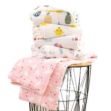 Can be Customized-110X110cm 6 Layer Muslin Blanket Organic Cotton Baby Blanket Receiving Blanket Newborn Baby Cotton Quilt Cover