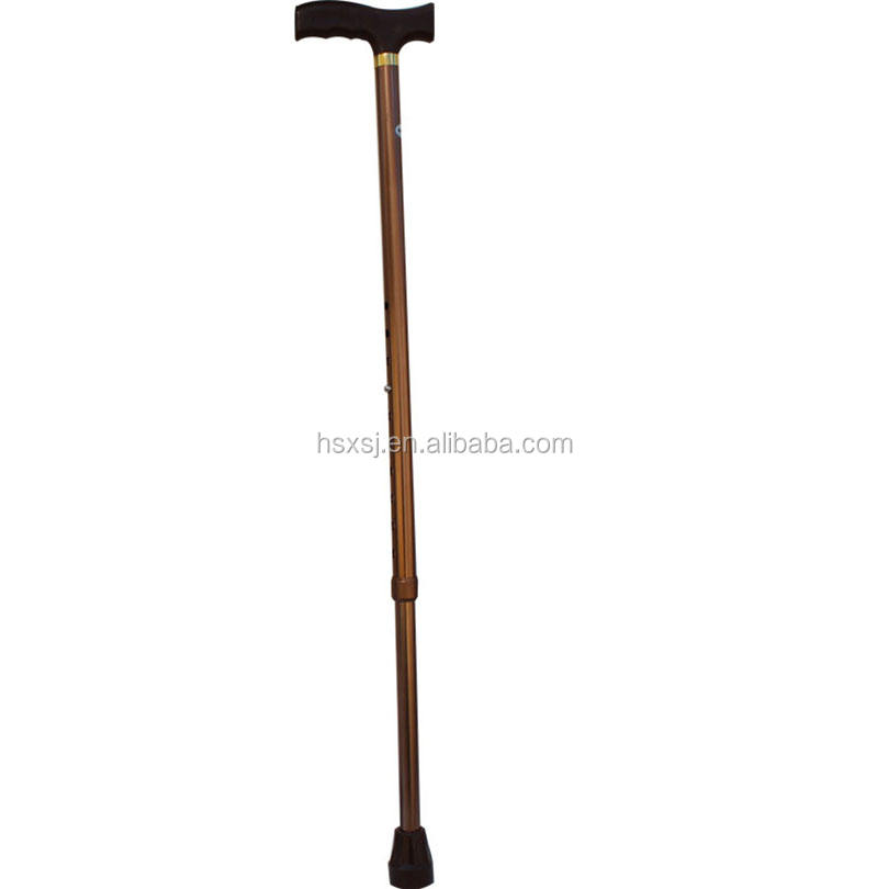 Controllable eva grip steel foldable flexible walking stick