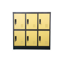 Top Sale  Metal office 6 Door Yellow Color Lower Storage Locker Cabinet