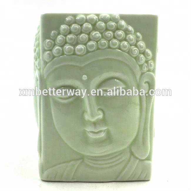 hot selling Buddha embossed glazed home decor ceramic aroma oil incense burner on sales