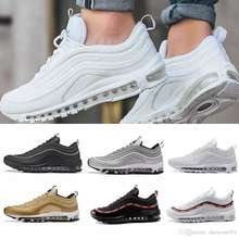 2019 Running Shoes  Gold Silver Bullet Triple White Black  97 Trainer Sports Sneakers