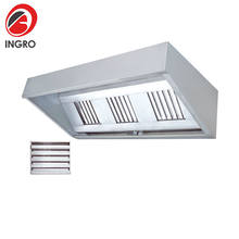 Smoke Grease Extractors Cooker Hoods Industrial, Stainless Range Hood With Metal Straps
