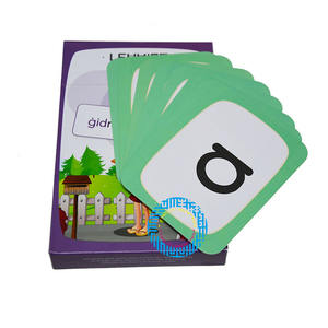 Wholesale Offsert Print Customized High Quality Printing Flash Card and Post Card Book Printing Service for Children