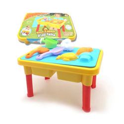 Sand Water Play Table Beach Toy Summer Toys With 13 PCS Tools