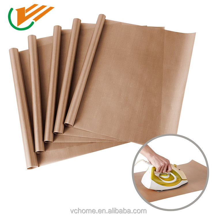 "5 Pack PTFE PTFE Sheet for Heat Press Transfer Sheet Non Stick 16 x 20"" Heat Resistant Craft Sheet"