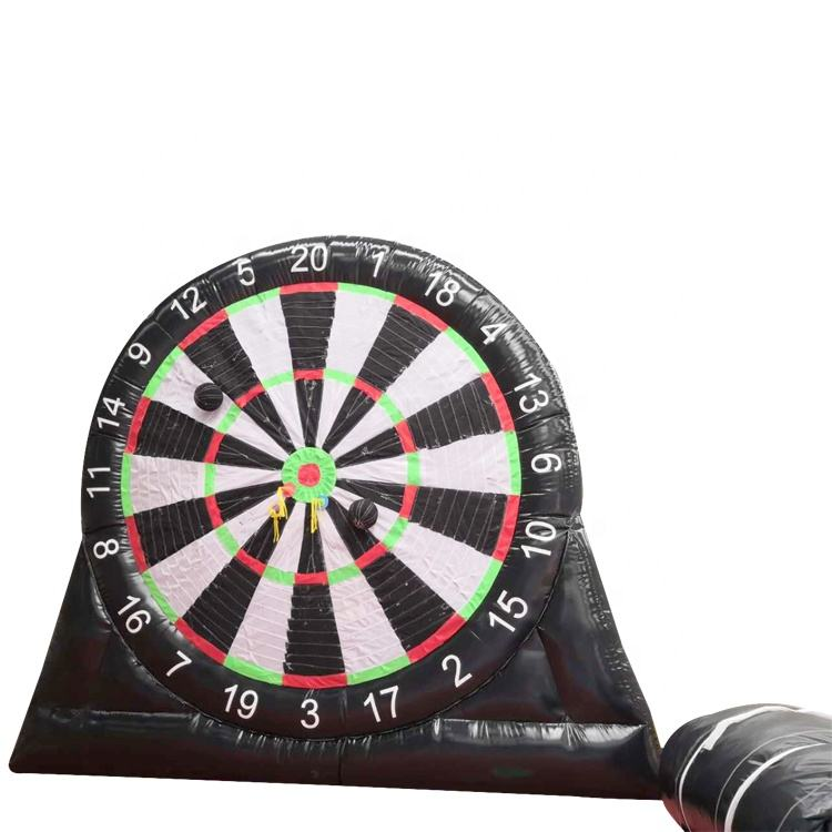 Sport toys safety football darts inflatable game logo printing single side inflatable dart boards game