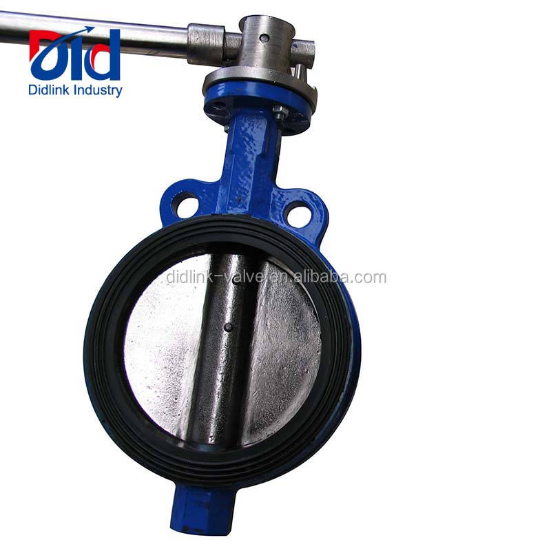 Wafer Type Check Seat Ring With Tamper Switch Cement Demco Ebro Pipe Handle Cast Iron Butterfly Valve