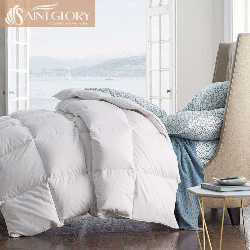 Saint Glory 100% Cotton 400 Thread Count Goose Down Comforters / Duvets / Hotel Feather Quilt for Adults & Kids