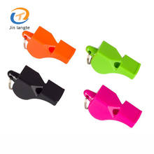 Customized promotional sport referee whistle plastic emergency whistle