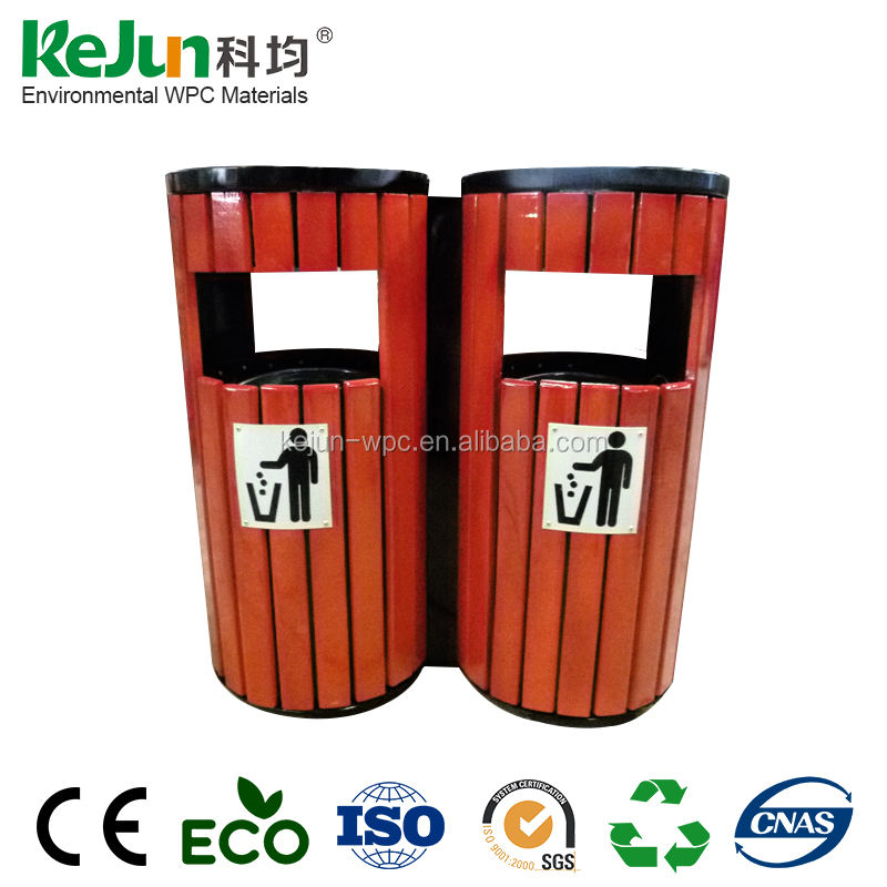 Wholesale park wooden street garbage bin/trash bins