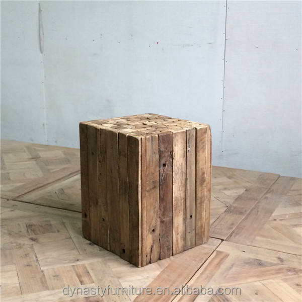 antique recycled wooden furniture side table