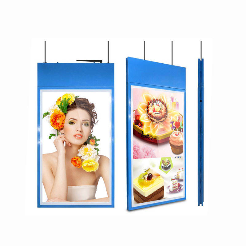 55 pollici appeso double sided android di rete lcd menu shopping digital display advertising