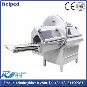 Cut Ham/Meat/Cheese into slicer machine