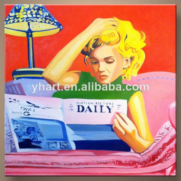 venta caliente más nuevo de la pintura de arte hechas a mano del sexo decoración para el hogar de la imagen de la pintura